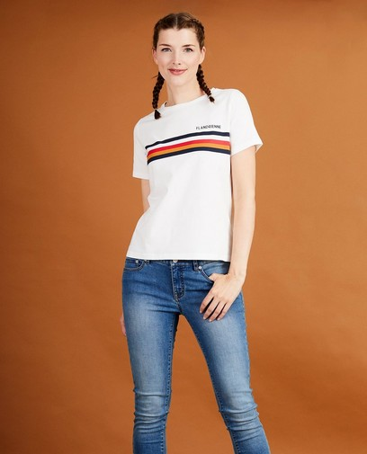 Wit T-shirt met print Baptiste