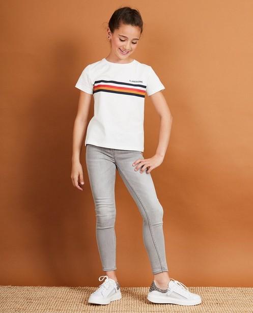 Wit T-shirt Baptiste, 7-14 jaar - met print - JBC