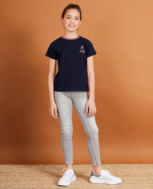 Blauw T-shirt Baptiste, 7-14 jaar - met print - JBC
