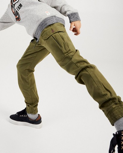 Pantalon vert en coton bio I AM