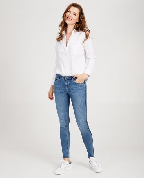 Superskinny jeans met sierbiesje - mid rise - Sora