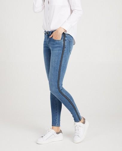 Superskinny jeans met sierbiesje