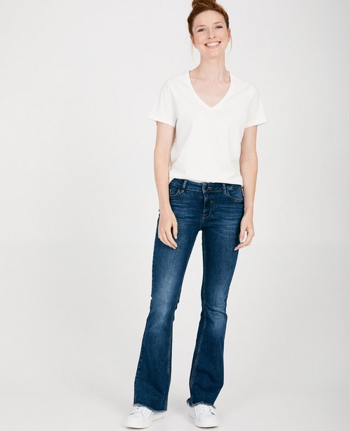 Blauwe bootcut jeans - mid rise - JBC