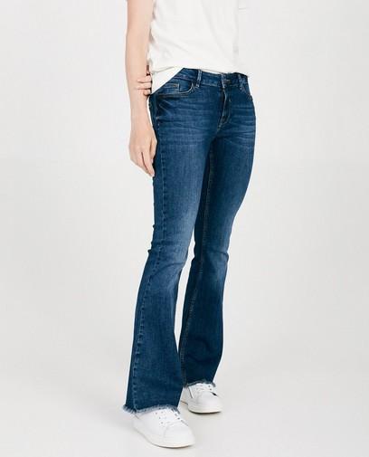 Blauwe bootcut jeans