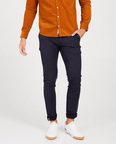 Donkerblauwe geklede broek