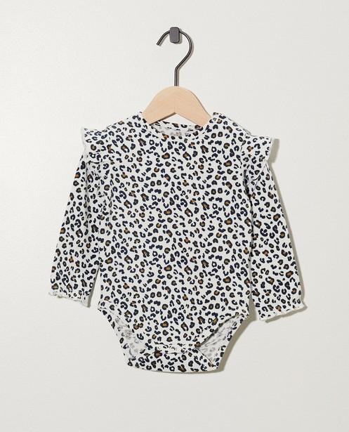Body à imprimé léopard - fronces - cudd