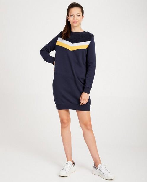 Donkerblauwe sweaterjurk - teddy - Groggy