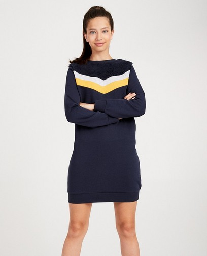 Robe molletonnée bleu foncé