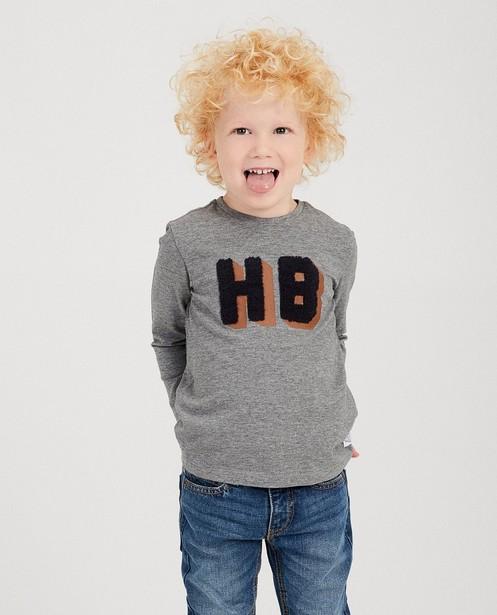 T-shirts - GSM - Grijze longsleeve Hampton Bays