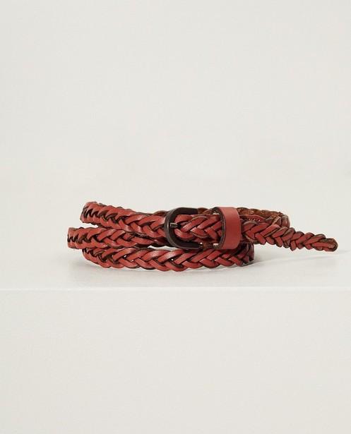Roodbruine gevlochten riem Pieces - in twee kleuren - JBC