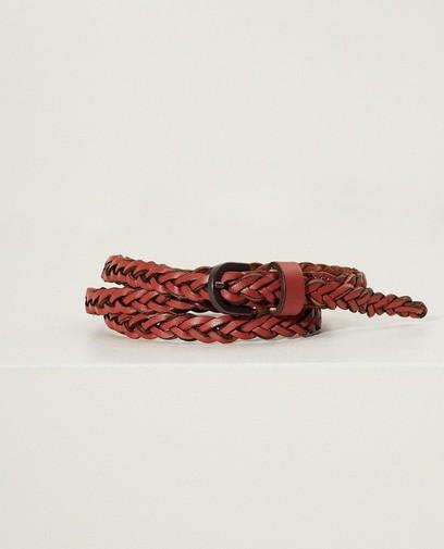 Roodbruine gevlochten riem Pieces