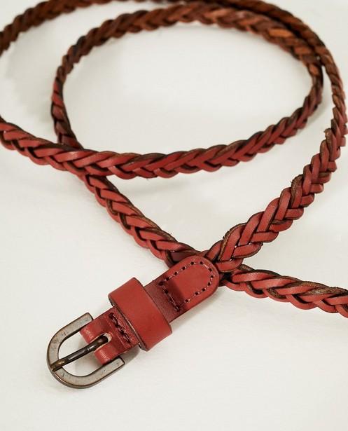 Riemen - Roodbruine gevlochten riem Pieces