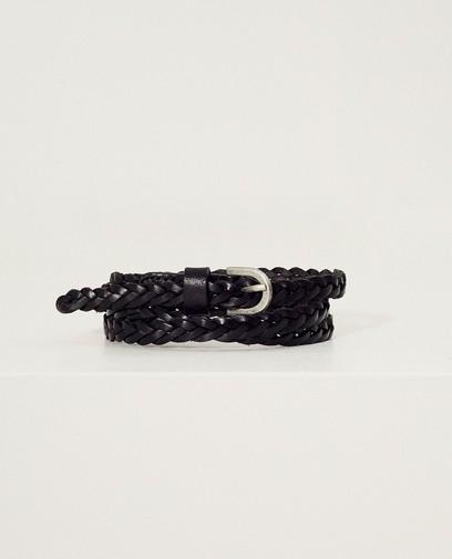Zwarte gevlochten riem Pieces