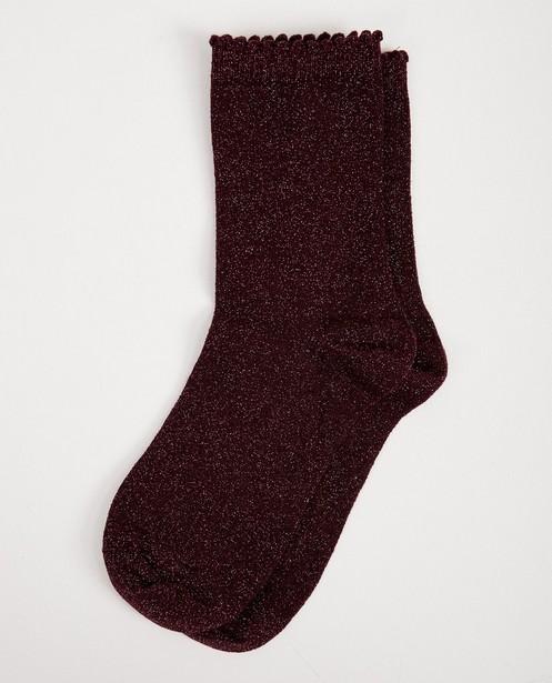 Chaussettes noires Pieces - avec un fil métallisé - Pieces