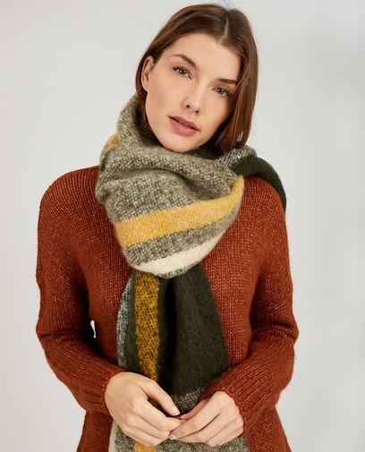 Donkergroene sjaal Pieces