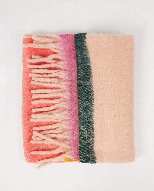 Gekleurde sjaal Pieces - fijne brei - Pieces