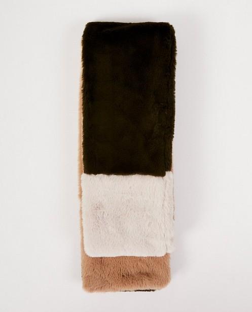 Faux-fur tricolor sjaal Pieces - faux-fur - Pieces