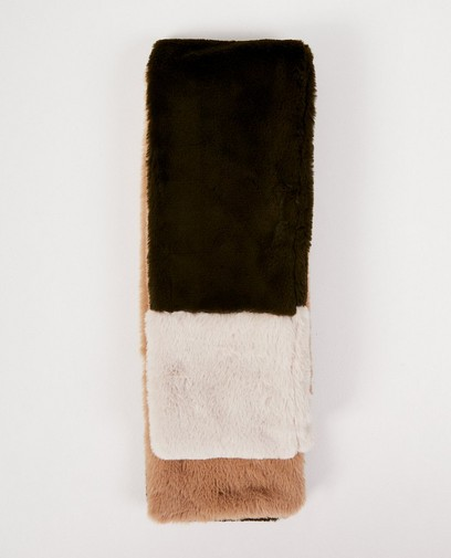 Faux-fur tricolor sjaal Pieces