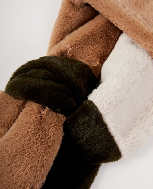 Breigoed - ZAM - Faux-fur tricolor sjaal Pieces