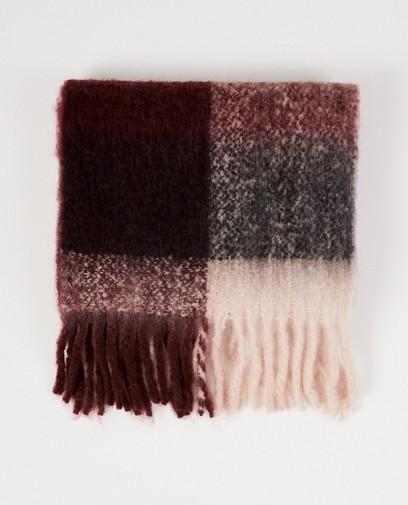 Maroonkleurige sjaal Pieces