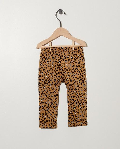 Pantalons - AO1 - Pantalon beige, imprimé léopard