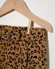 Pantalons - Pantalon beige, imprimé léopard