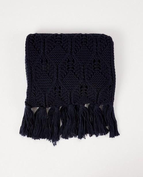Donkerblauwe sjaal Pieces - brei - Pieces