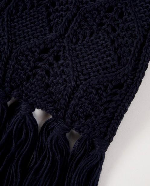 Breigoed - BLD - Donkerblauwe sjaal Pieces