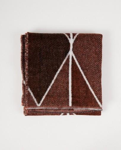 Roestkleurige print sjaal Pieces