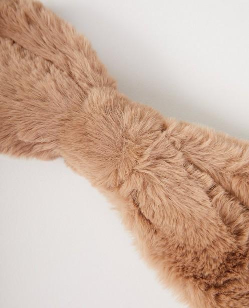 Breigoed - Beige faux-fur hoofdband Pieces