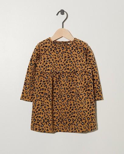 Robe beige, imprimé léopard
