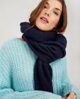 Écharpe bleu foncé Pieces - fin tricot - Pieces
