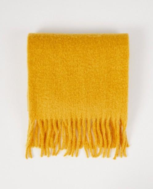 Breigoed - GLM - Okergele sjaal Pieces