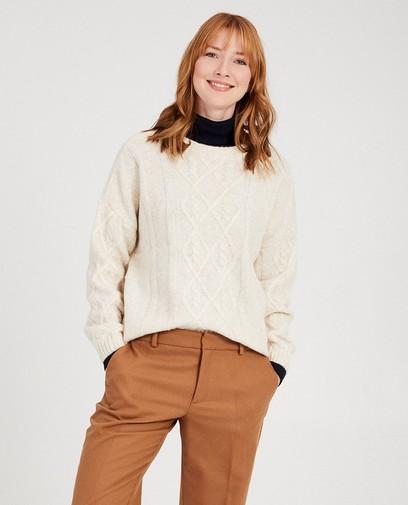 Witte trui van fijne brei Sora