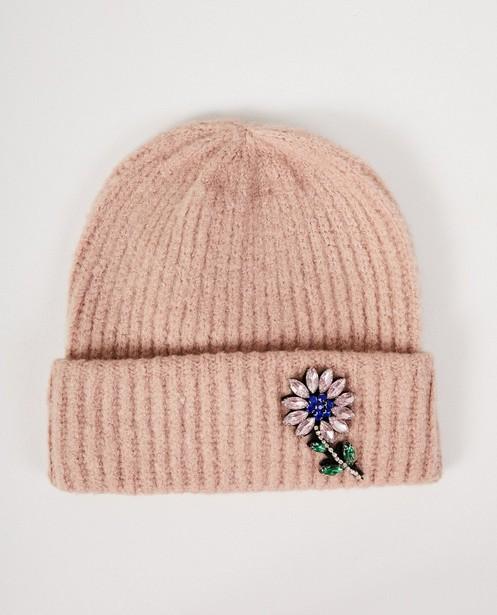 Bonnet rose à fleur Pieces - petites pierres - Pieces