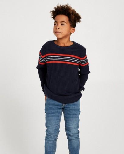 Pull bleu en tricot