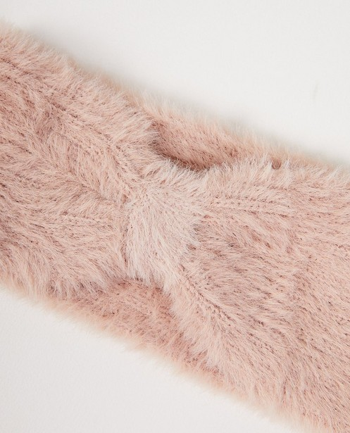 Roze hoofdband Pieces - pluizig - Pieces
