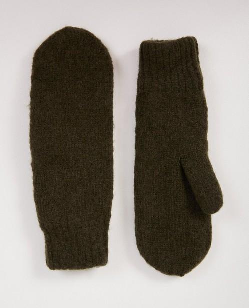 Moufles vert foncé Pieces - fin tricot - Pieces