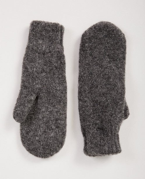 Moufles gris foncé Pieces - fin tricot - Pieces