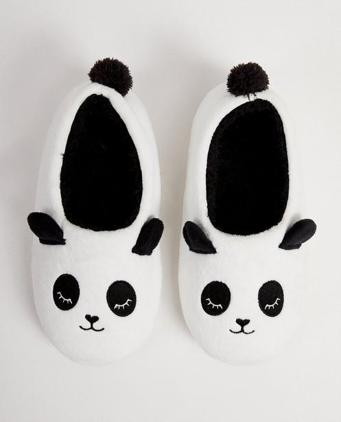 Pantoufles panda blanches - fausse fourrure - JBC