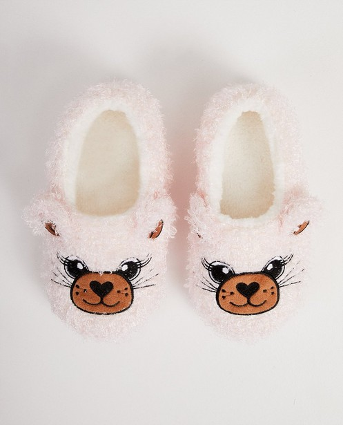 Pantoufles teddy rose - animal - JBC
