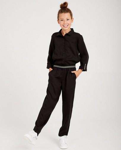 Zwarte jumpsuit van lyocell I AM