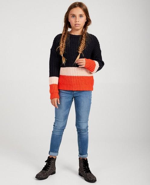 Pull color block - tricot à grosses mailles - fish