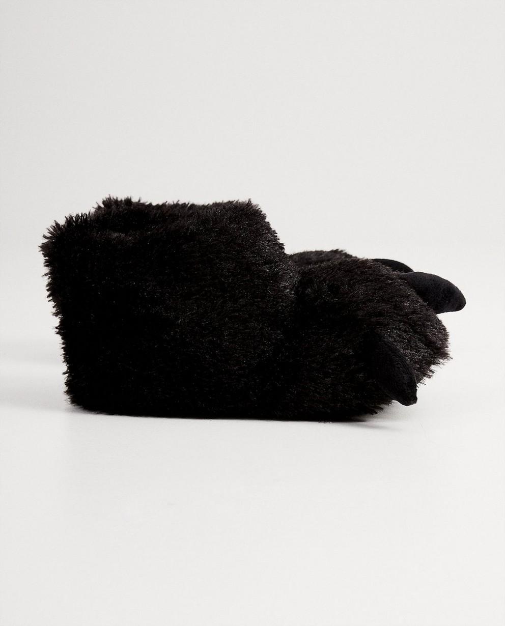 Pantoufles noires animal - avec des griffes - JBC