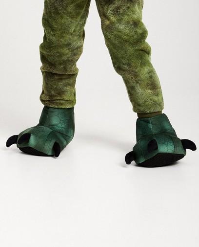 Groene draken pantoffels