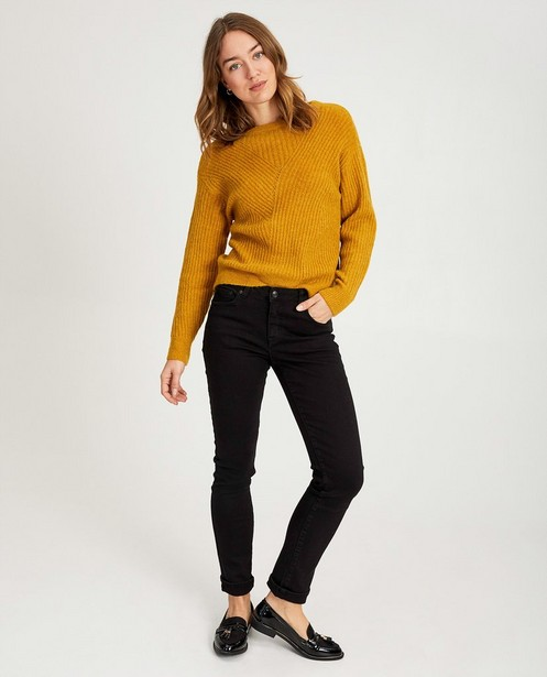 Pull en tricot rayé Sora - jaune foncé - Sora