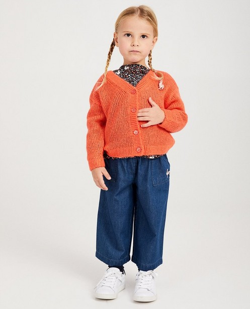 Gilet corail, broche de Kathy - tricot - Kathy