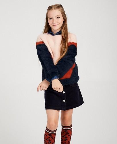 Pull en tricot color block