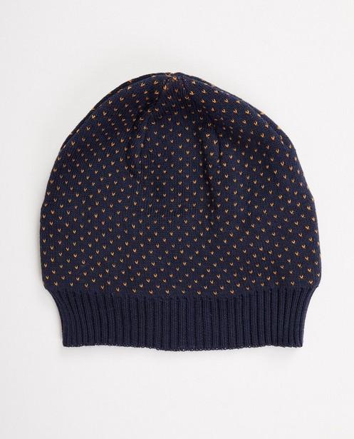 Dunkelblaue Mütze - aus Feinstrick - JBC