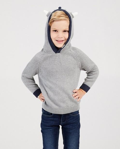 Truien - Grijze trui met vikingkap Wickie